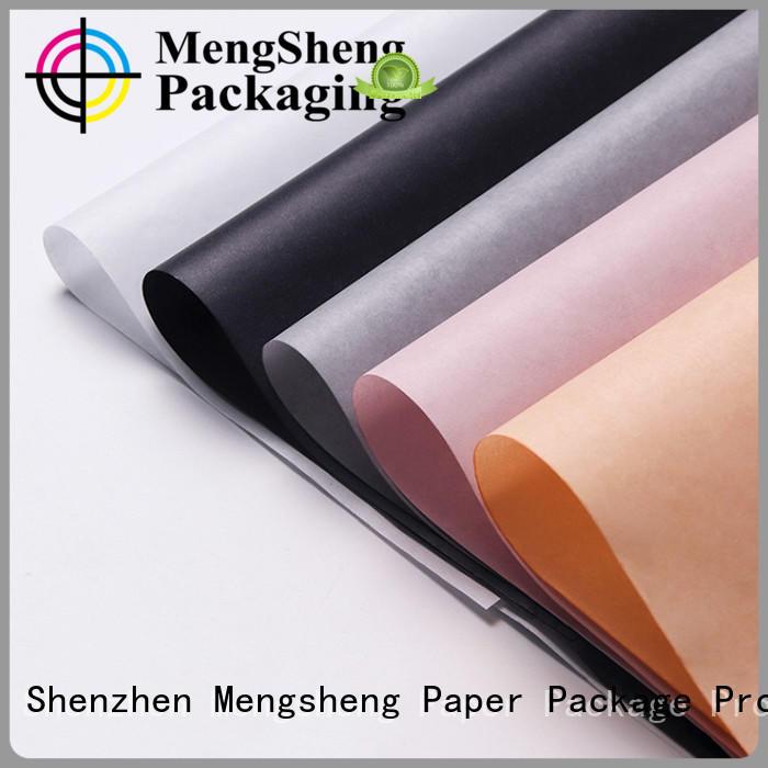 Mengsheng logo printing christmas tissue paper logo free sample