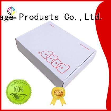 garment white corrugated cloth box packaging Mengsheng Brand