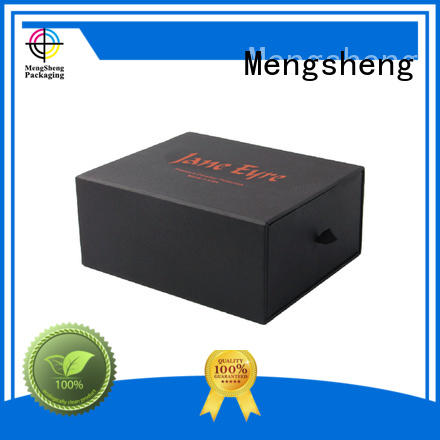 cardboard drawer box paper black Mengsheng Brand
