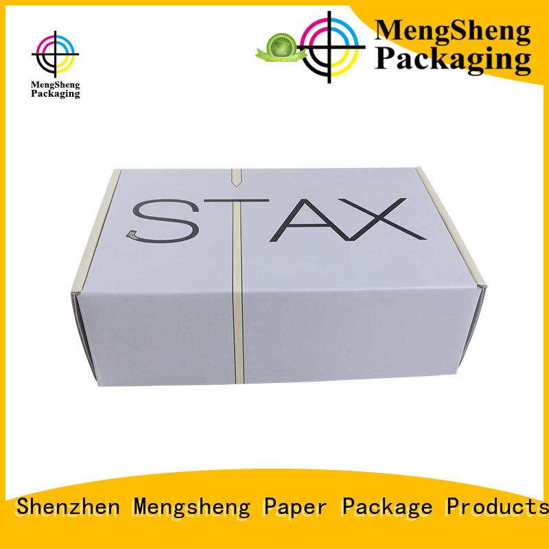 Mengsheng shipping cheap corrugated boxes shoes packing eco friendly