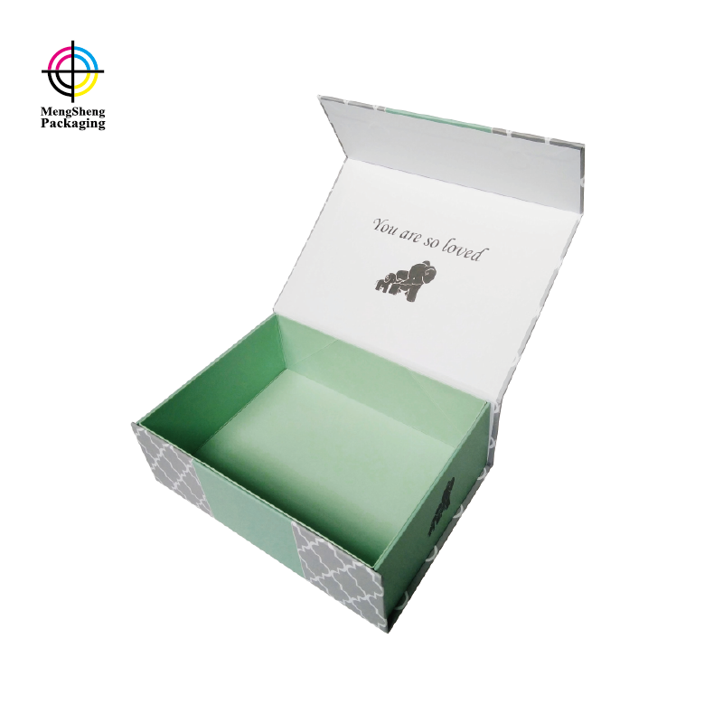 foldable paper box with magnet close custom brand for gift