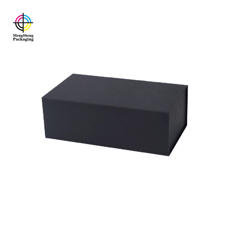 Luxury Black Color Fold Flat Box