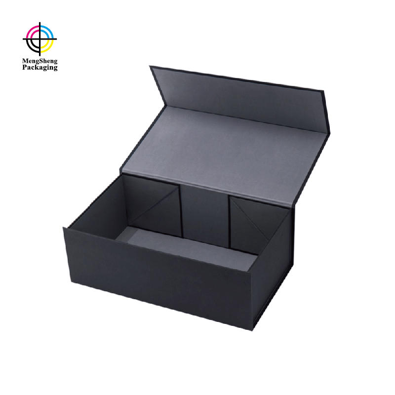 Luxury black color foldable gift box