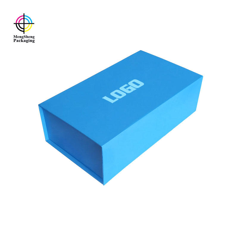 Design Custom Blue Folding Box With Magnet Closed