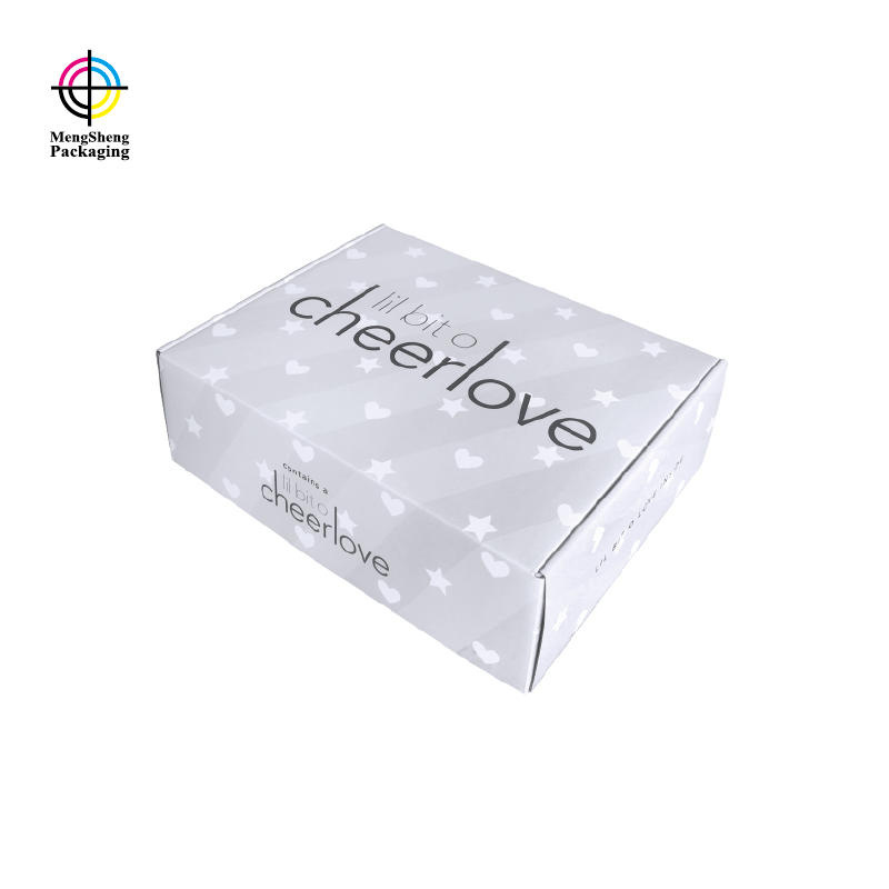 Shipping Box Classical Grey Color Tuck Top Corrugated Style Luxury Brand Packaging