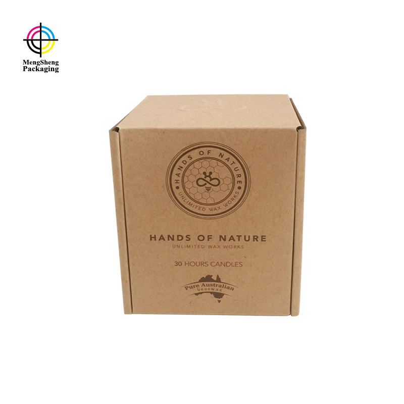 Custom Shipping Box Logo Embossed Coffee Kraft Mug Gift Branded Packaging Boxes