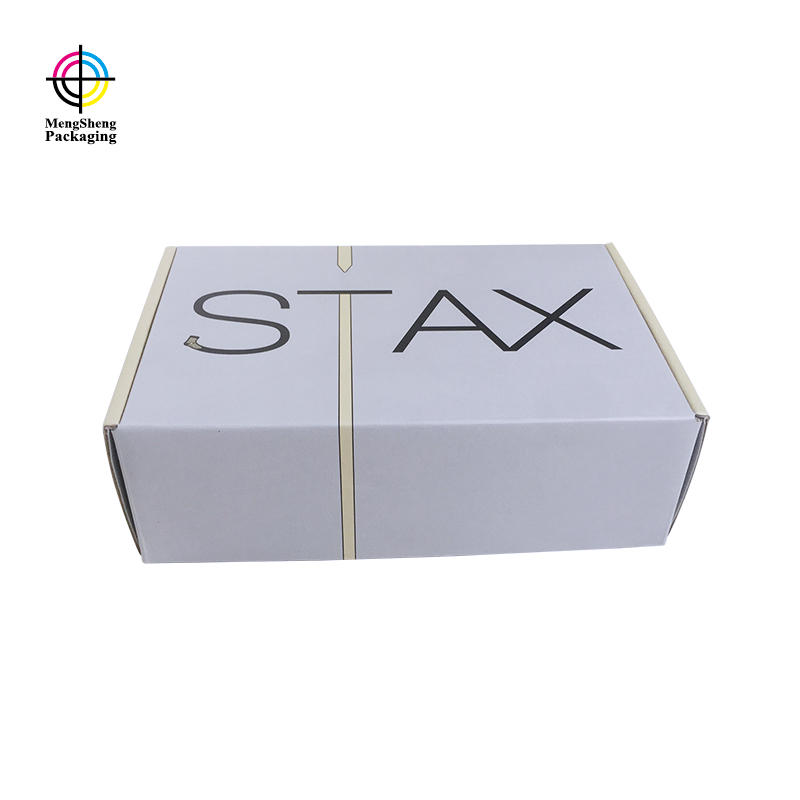custom shipping box corrugated cardboard logo printed garment box packaging
