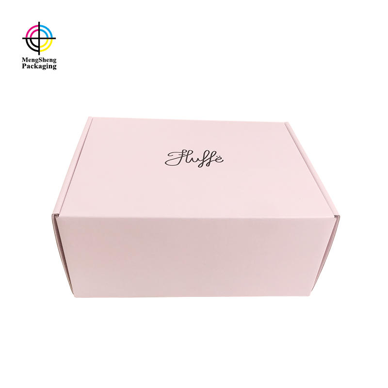 Custom Shipping Box Custom Sweet Pink Color Mailing Corrugated Packaging
