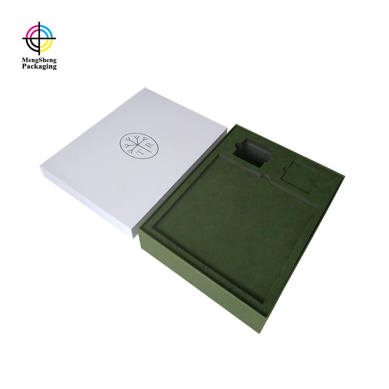 Hot Sales White Lid And Base Card Box With Lid With High-Quality EVA Tray For Gifts