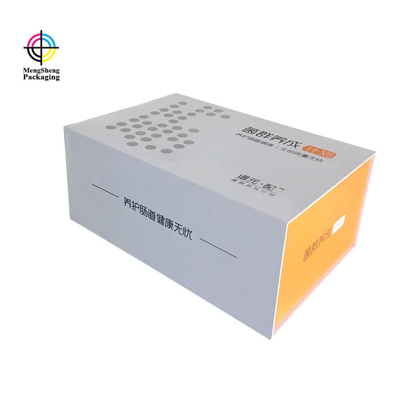 Book Shape Box With Magnetic Box Orange Color Custom Size For Foods