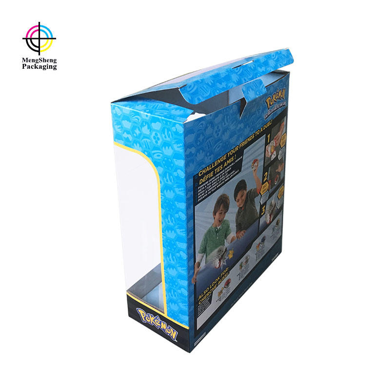 Custom toy packaging with PVC window for kid plaything
