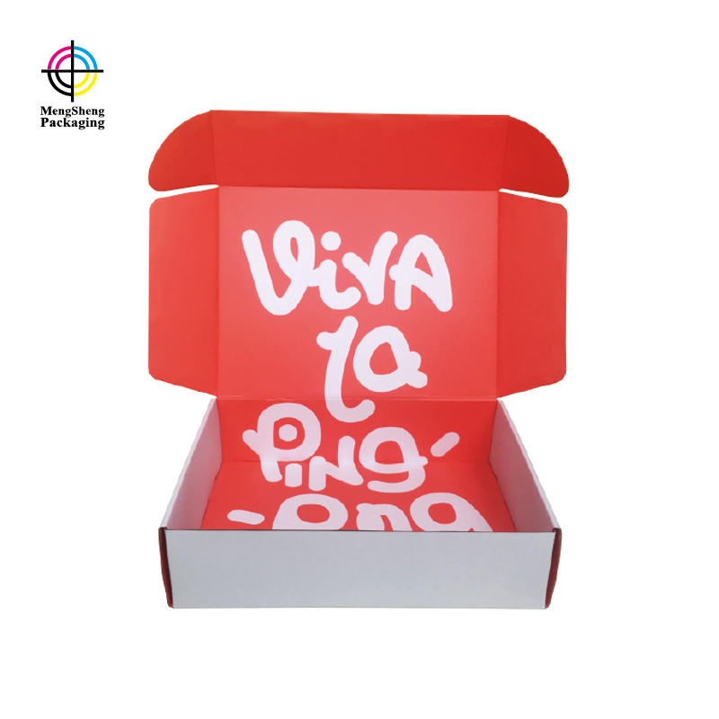 Custom corrugated paper apparel boxes orange color for clothing