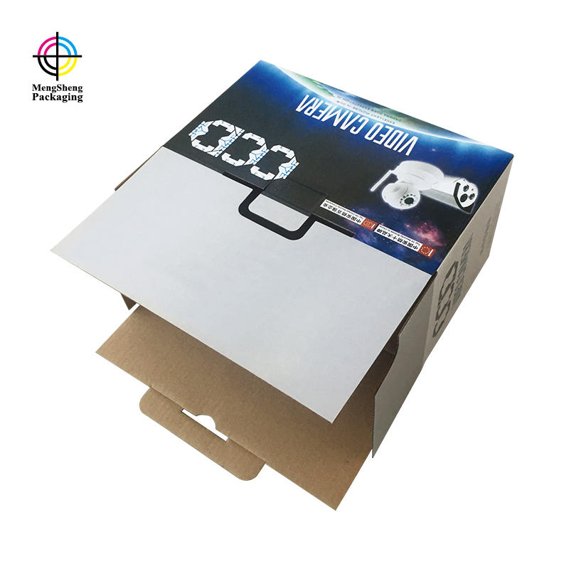 Paper Corrugated Electronics Video Camera Packaging Box Cardboard Cube