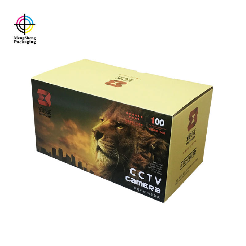 Gloss Paper Corrugated Electronics CCTV Camera Packaging Cardboard Paper Box