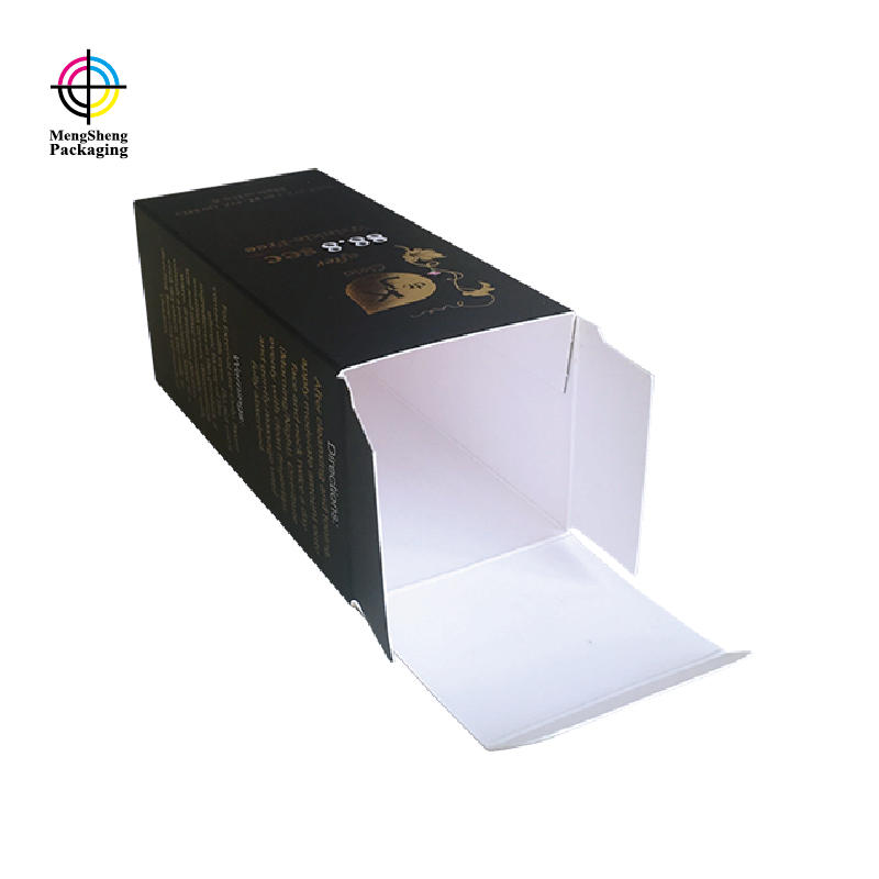 Professional factory 4C color printing hot stamping paper card cosmetics packaging g box