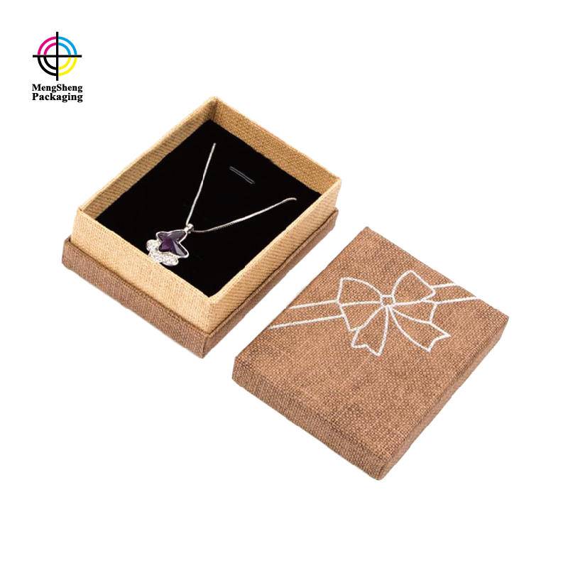 Professional Factory Luxury Specialty Paper Lid Jewelry Packaging Earring Gift Box