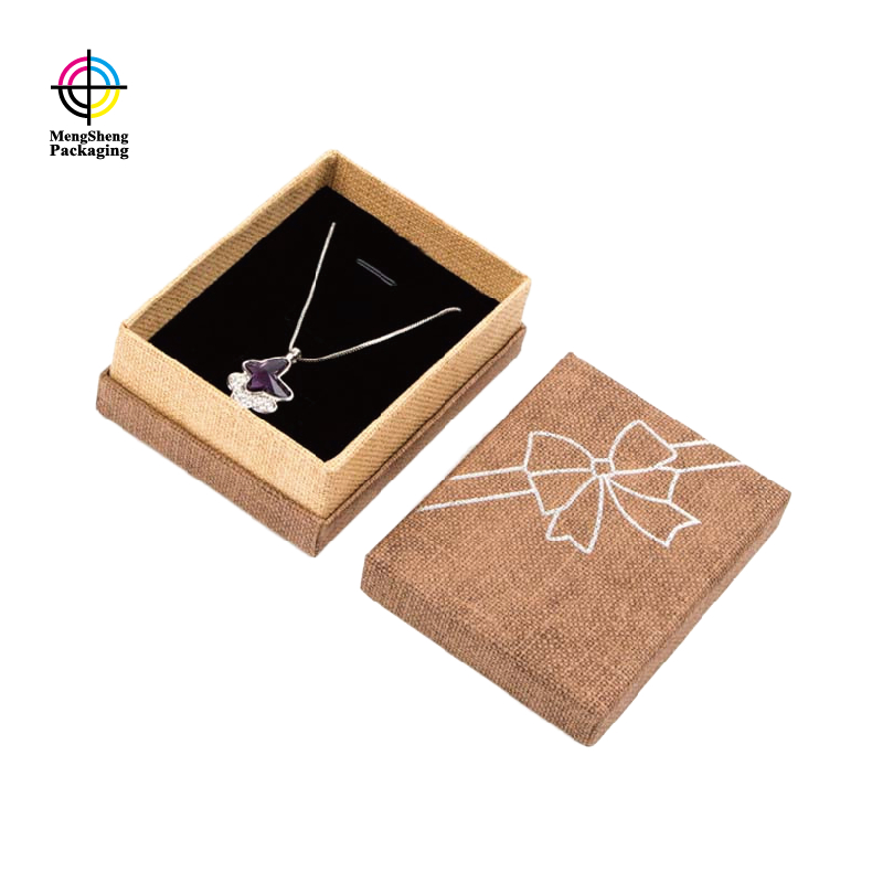 natural kraft paper earring gift box packaging shoes packing convenient-2
