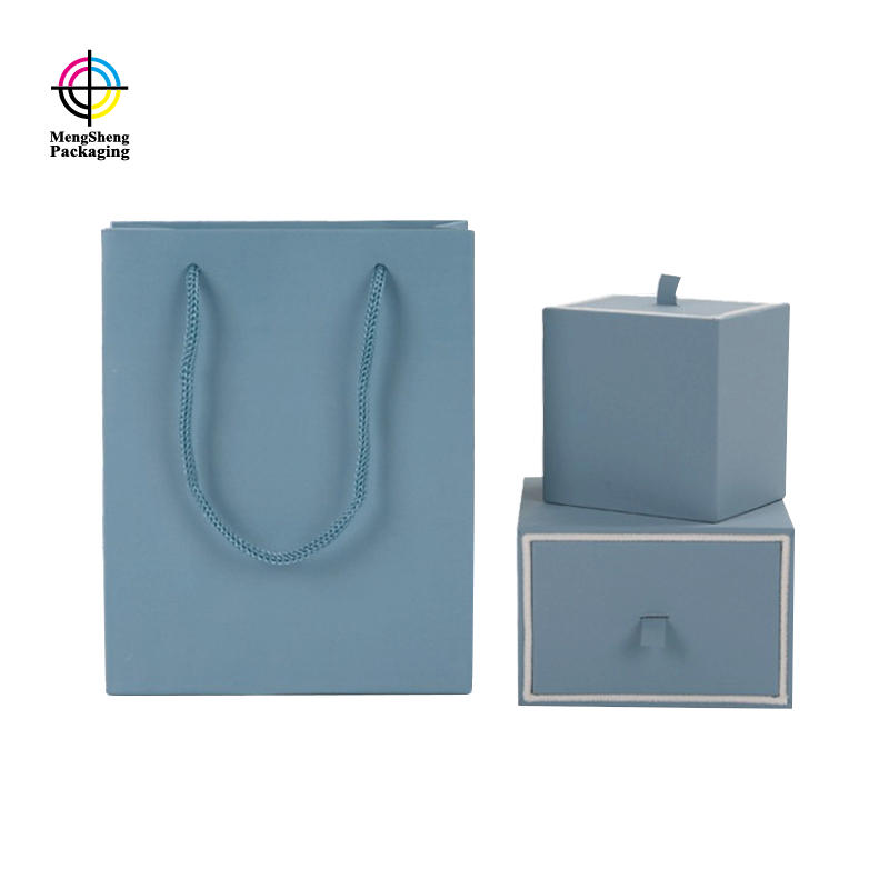Professional factory custom high quality luxury velvet flocking insert drawer Jewelry packaging box