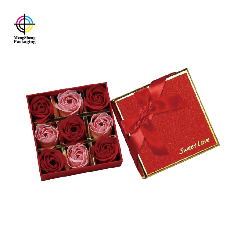 Custom Rectangular Square Luxury Printed Flower Shipping Packaging Rose Bouquet Box