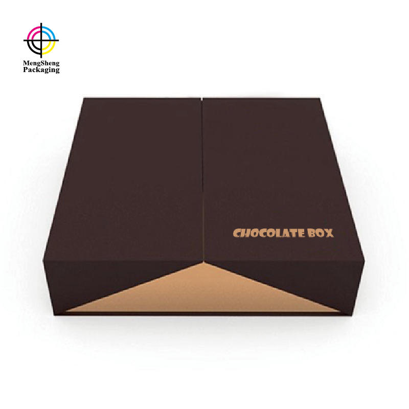 Professional factory custom luxury printing empty food chocolate packaging box