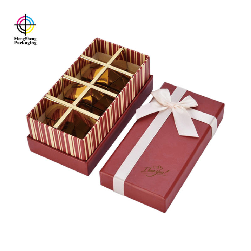 Customized Fancy Paper Luxury Chocolate Packaging Gift Confectionery Boxes