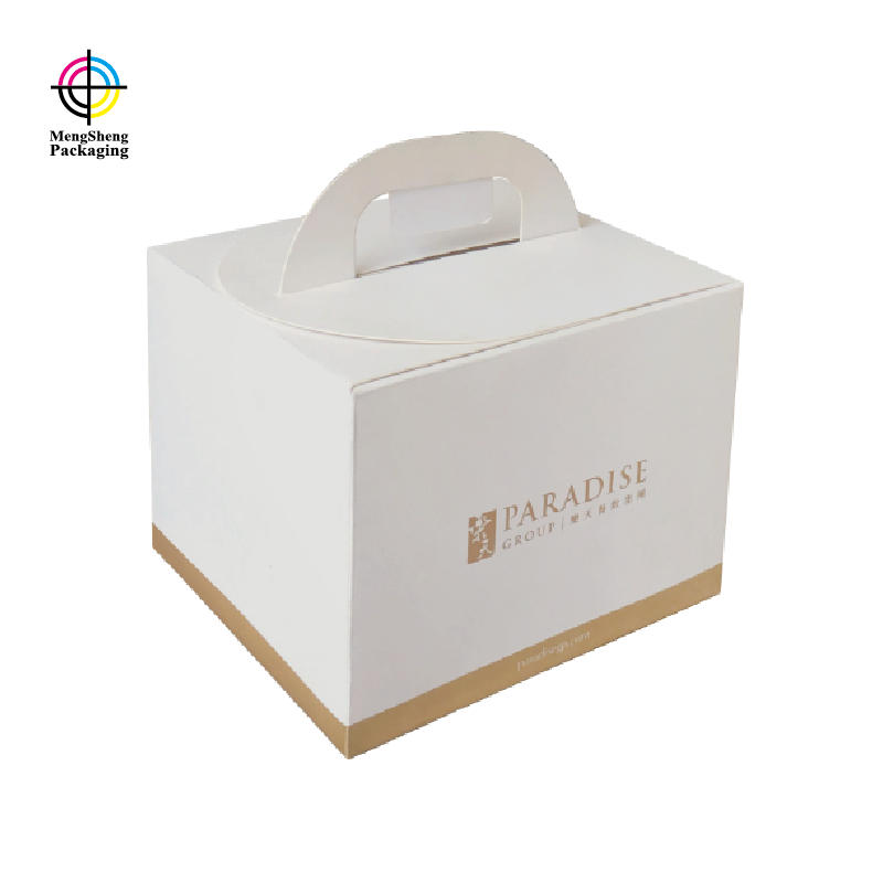 Custom Printed Cake Packaging Boxes With Handle