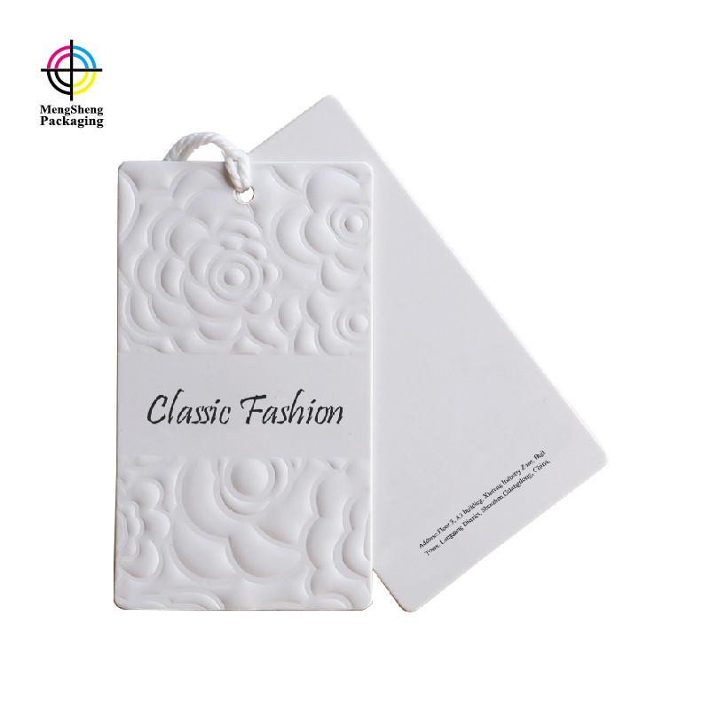 Professional factory custom T-shirt clothing garment printed Paper Hang Tag
