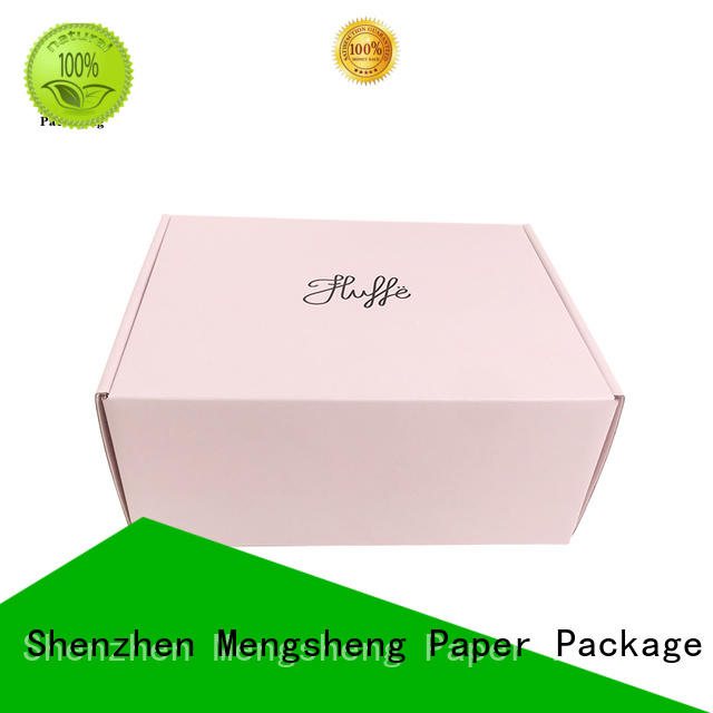 stamping custom shipping boxes eco friendly Mengsheng