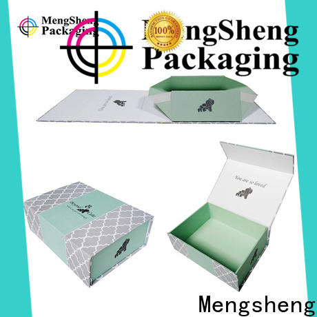Mengsheng foldable folding boxes logo printed for florist