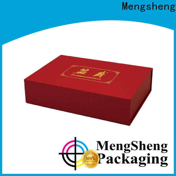 Mengsheng magnetic closure round gift box kraft for wholesale
