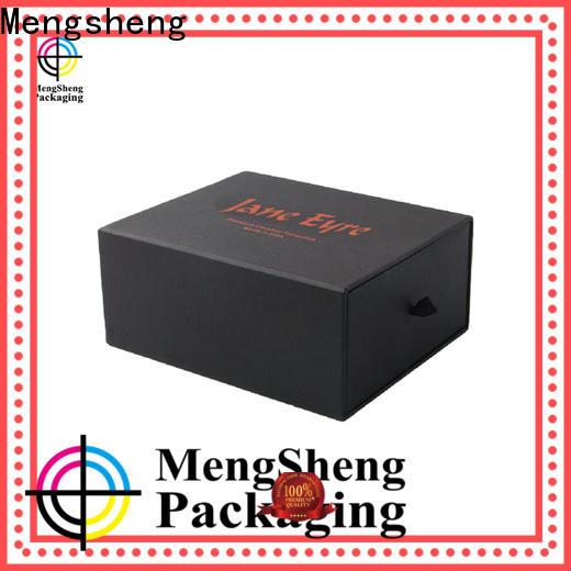 Mengsheng factory price kraft drawer box with ribbon at discount