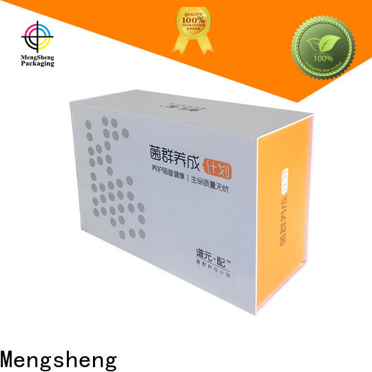 Mengsheng new magnetic inbox carton printed clothing shipping