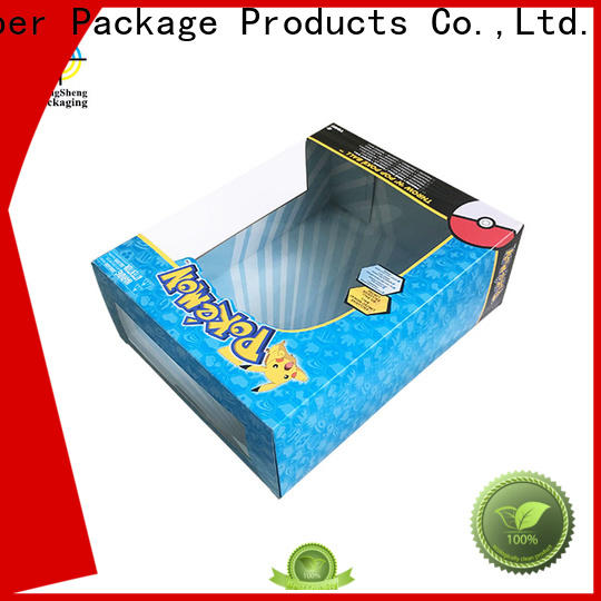 Mengsheng auto-lock bottom toy packaging box free sample with handles