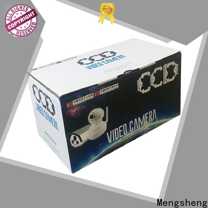 Mengsheng multifunctional cardboard cube logo printed garment packing