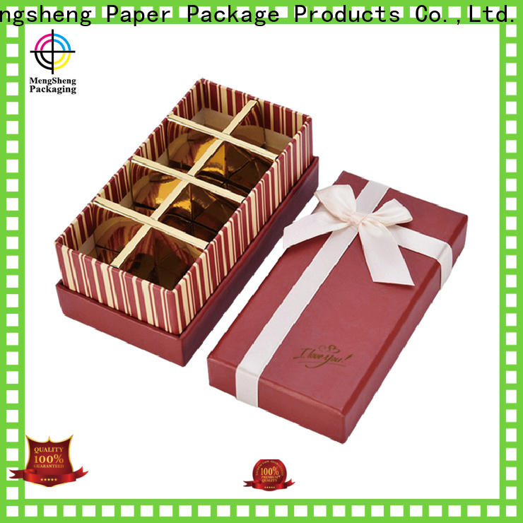 Mengsheng luxury empty chocolate boxes waterproof for storage