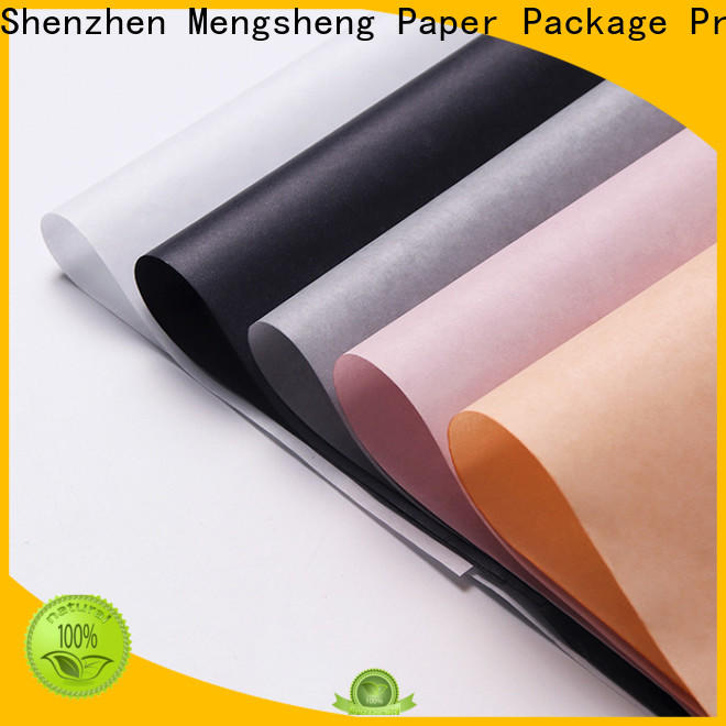 Mengsheng custom color brown tissue paper with ribbon latest deisgn