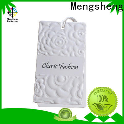 Mengsheng handmade paper hang tags luxury jewelry packing
