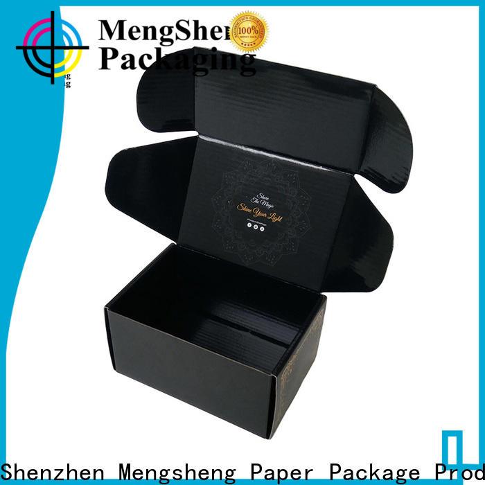 Mengsheng stamping corrugated bin boxes clothing packing custom design