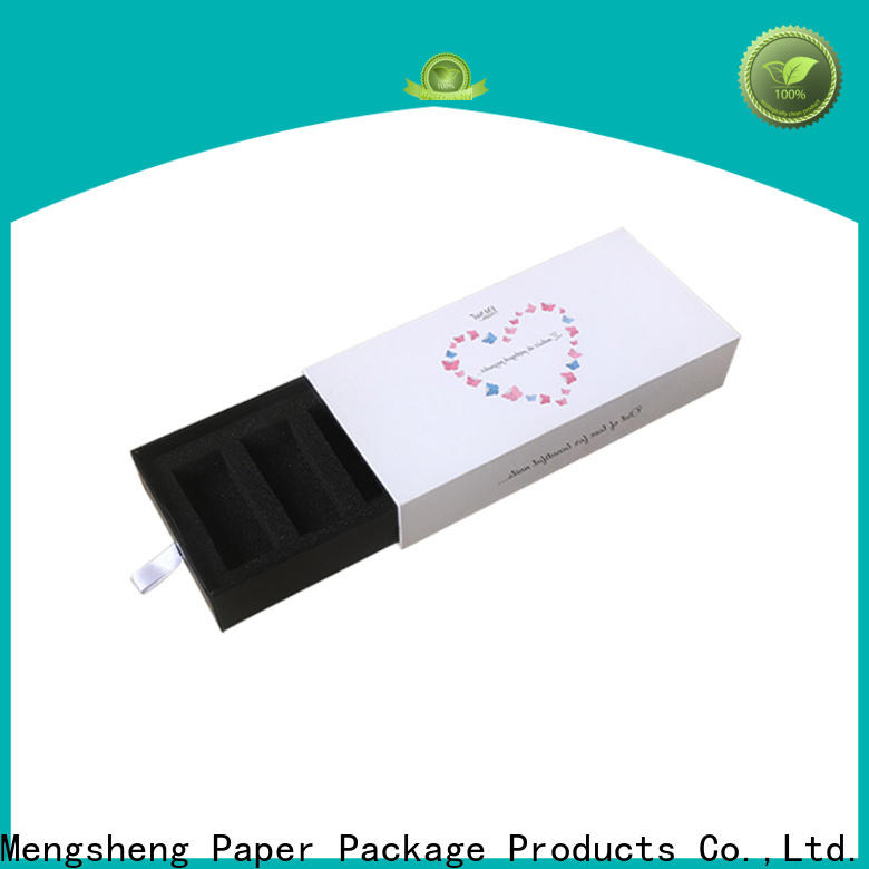 Mengsheng wholesale paper drawer box sliding insert at discount