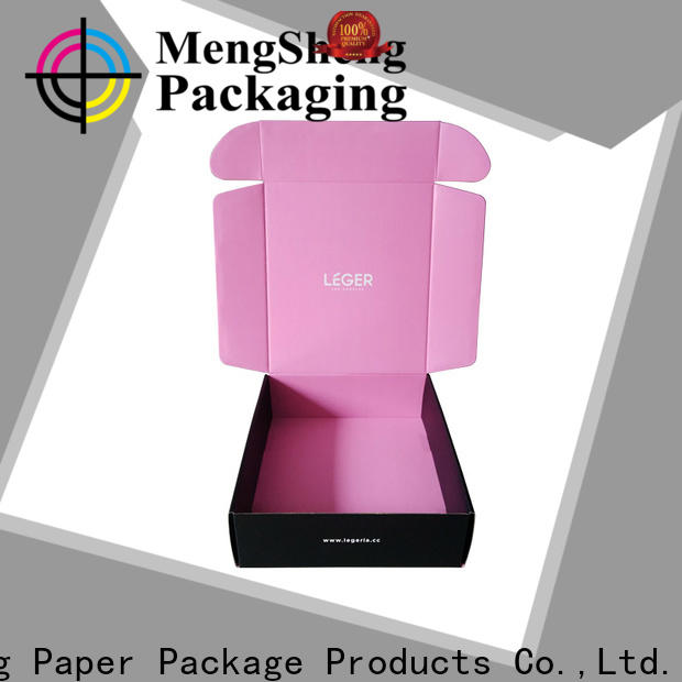 Mengsheng printing design brown gift box with lid Supply ectronics packing