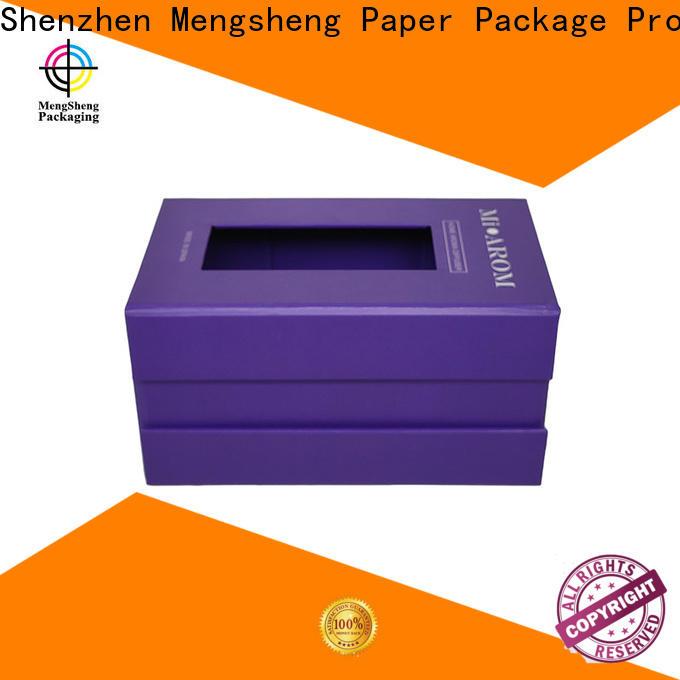 Mengsheng removable magnetic closure gift box carton printed clothing shipping