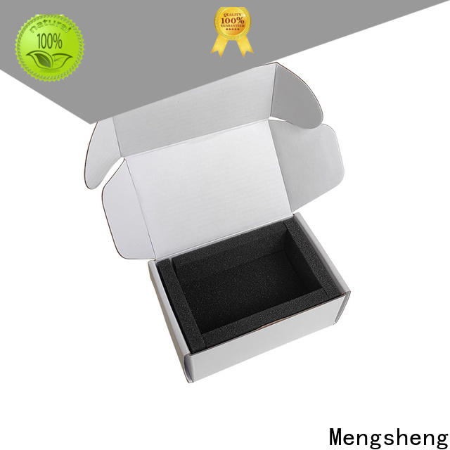 Mengsheng box empty cardboard box logo printed garment packing