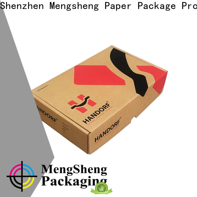 Mengsheng strong corrugated box maker clothing packing custom design