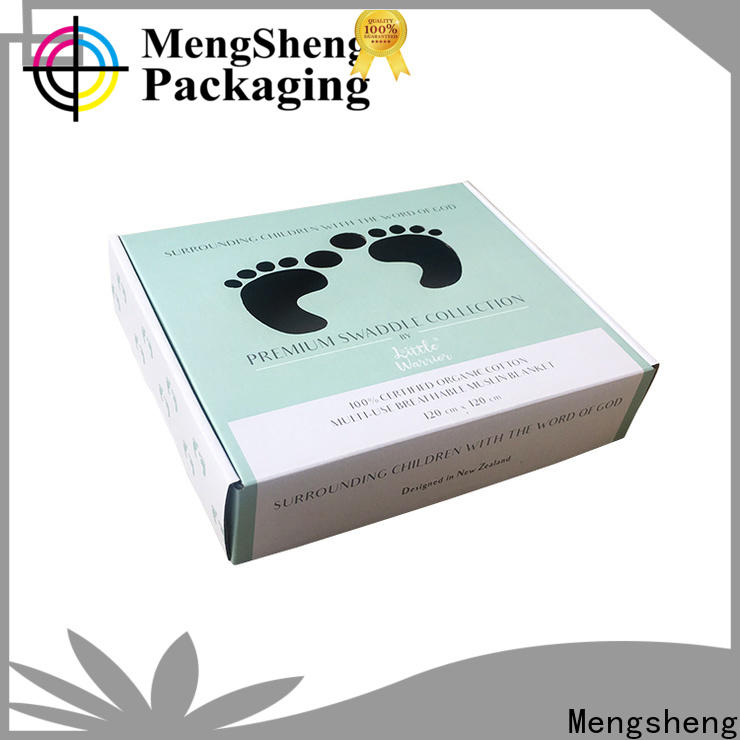 Mengsheng various shapes decorative gift boxes folding design with lid