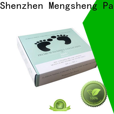 Mengsheng cosmetic packaging clothing boxes free sample with ribbon
