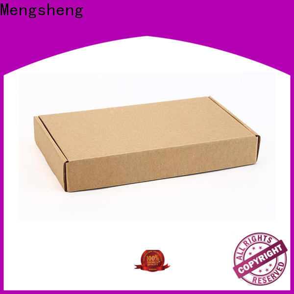 Mengsheng printing corrugated board clothing packing eco friendly