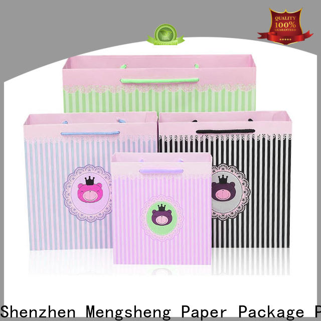 Mengsheng customized cardboard wine gift boxes free sample with handles