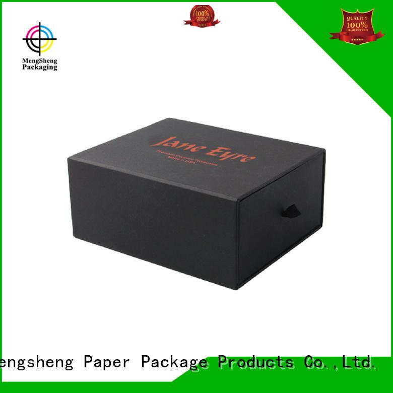 Mengsheng foam packaging kraft drawer box sliding cover at discount