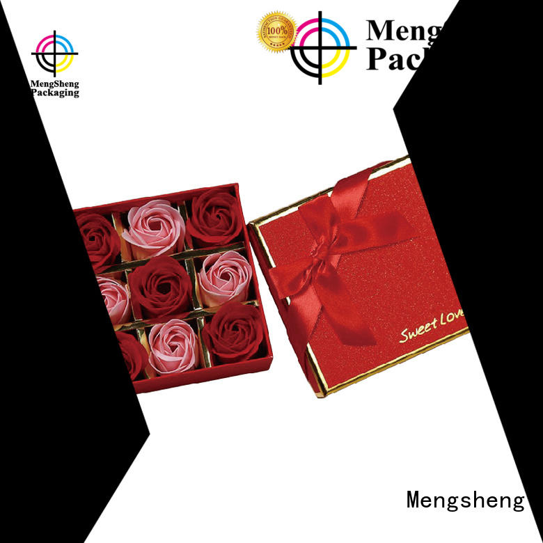 square packaging Mengsheng Brand flower gift box