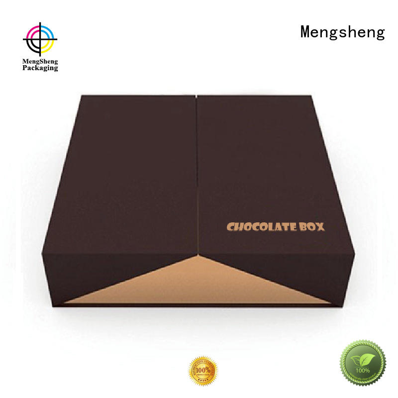 Custom empty fudge boxes paper Mengsheng